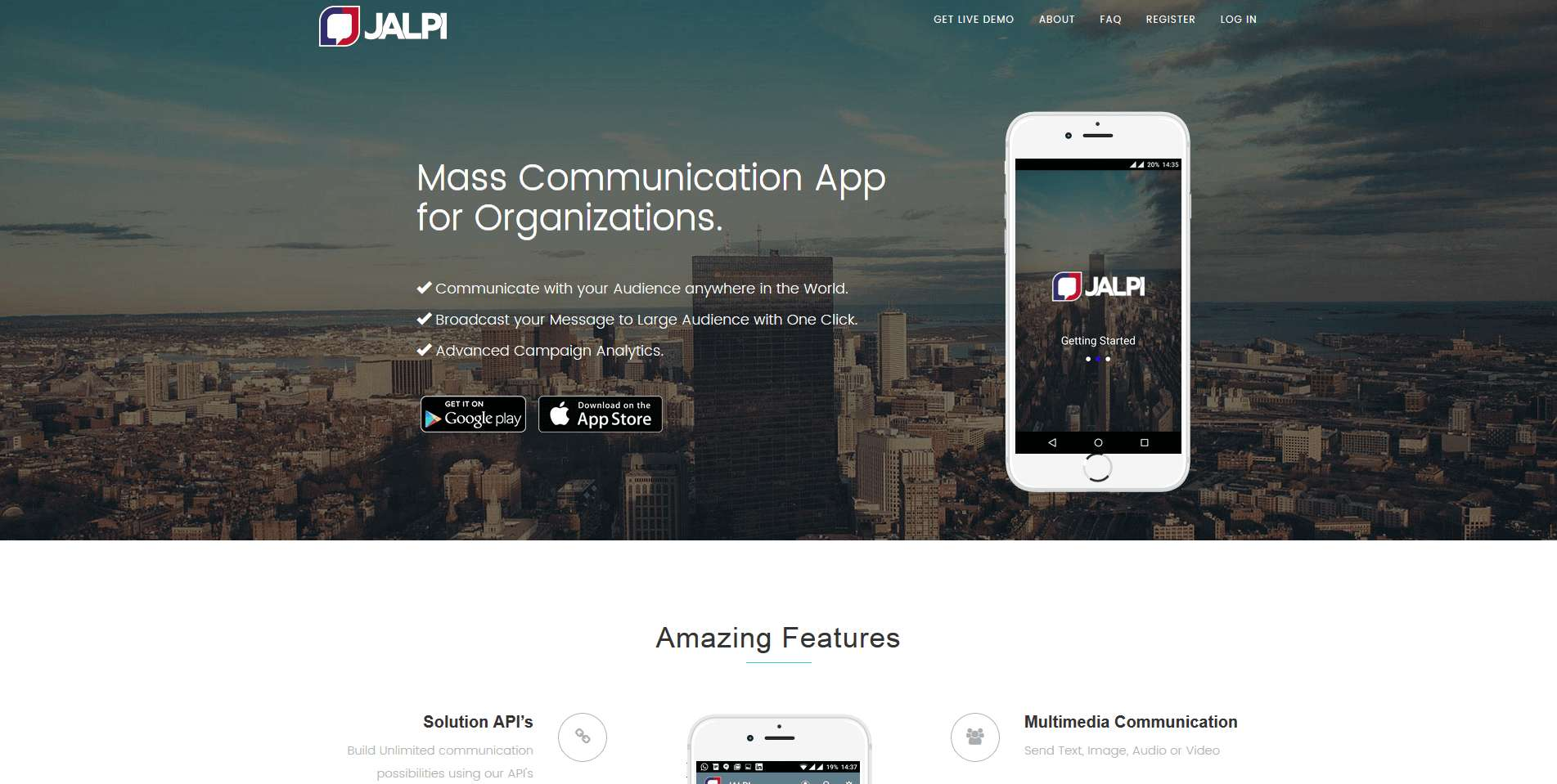 your mass communication app an easy way to describe the app